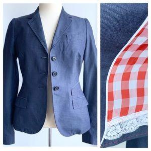 Paul Smith Italy gingham lined blazer